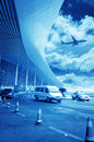 The scene of t airport building in beijing china interior Royalty Free Stock Photo