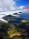 Scenery beautiful shot of greenscenery from plane Royalty Free Stock Image