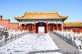 Scenery of forbidden city in winter zhongyou gatetower Stock Images