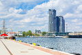 Scenery of gdynia city at baltic sea poland Royalty Free Stock Images