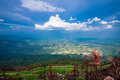 Scenery hilltop mountain at southeast asia Royalty Free Stock Photos