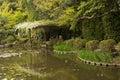 The scenery of Japanese garden near Heian Shrine. Royalty Free Stock Photo