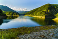 scenery with Lake Voina, Romania on a summer day Royalty Free Stock Photo