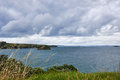 Scenery and landscapes across land and water in Waiheke Island N Royalty Free Stock Photo