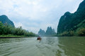 Scenery of li river in Guilin Royalty Free Stock Photos
