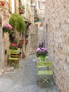 Scenery in a medieval village in the mediterranean area Royalty Free Stock Photo