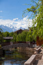 A scenery park in Lijiang China Royalty Free Stock Images