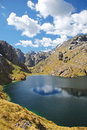 Scenery routeburn track world renowned tramping hiking km track found south island new zealand Royalty Free Stock Photo