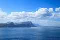 Scenery and sea around cape of good hope town south africa Royalty Free Stock Images