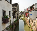 The scenery of Shantang Street at Suzhou,China. Royalty Free Stock Photo