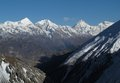Scenery on the way to tilicho lake pisang peak and other high mountains in annapurna conservation area nepal Stock Photos