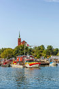 Scenes from nynashamn a big center for ferry transport offering services to gotland poland and russia the city is also a well Stock Photo