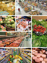 Scenes from the supermarket several Stock Image