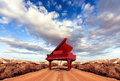 Sceney and piano music concept scenery on the road Stock Photography