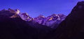 Scenic alpine landscape with and mountain ranges. natural mountain background Royalty Free Stock Photo