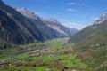 Scenic Alpine valley Royalty Free Stock Photo