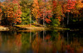 Scenic autumn landscape in Pennsylvania Royalty Free Stock Image