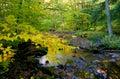 Scenic autumn landscape in Pennsylvania Stock Image