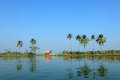 Scenic backwater destinations of kerala india beautiful Royalty Free Stock Photo
