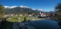 Scenic bavarian tourist destination wallgau Royalty Free Stock Photo