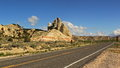 Scenic byway in utah usa red rocks on the way to bryce canyon along Stock Photos