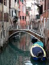 Scenic canal with colorful reflections, Venice, Italy Royalty Free Stock Photo
