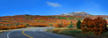Scenic colorado high way panoramic view of Royalty Free Stock Photos