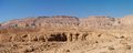 Scenic desert landscape in Negev desert, Israel Royalty Free Stock Photos