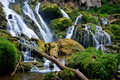 Scenic forest waterfall Stock Images