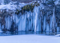 Scenic Frozen Waterfall