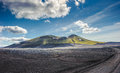 Scenic highland area of landmannalaugar iceland northern europe Royalty Free Stock Photo
