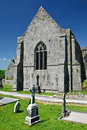 Scenic irish ancient church abbey ruins landscape Stock Photography