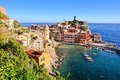 Scenic italian coastal village picturesque of vernazza cinque terre italy Stock Images