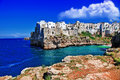 Scenic italy pictorial places of series polignano al mare Stock Photo