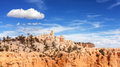 Scenic landscape in Bryce Canyon National Park. Royalty Free Stock Photo
