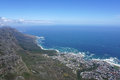 Scenic landscape of Camp bay, Cape town, South Africa Royalty Free Stock Photo