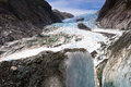 Scenic landscape at franz josef glacier southern alps west coast south island new zealand Stock Images