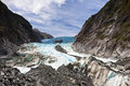 Scenic landscape at franz josef glacier southern alps west coast south island new zealand Stock Photo