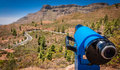 Scenic lookout in Gran Canaria Royalty Free Stock Photo