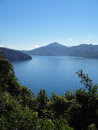 Scenic marlborough sounds a view of in new zealand Stock Photos