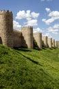 Scenic medieval city walls of Avila Royalty Free Stock Photo
