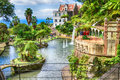 Scenic of Monte Palace Tropical Garden. Funchal, Madeira Island, Portugal Royalty Free Stock Photo