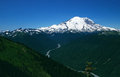 Scenic mount rainier in washington state mt is ft tall and is a dormant volcano it is continually snowcapped and is one of the Stock Photo