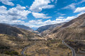 Scenic mountain road in the Andes, Peru Royalty Free Stock Photo