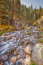 Scenic Mountain Stream in Autumn Royalty Free Stock Photo