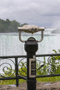 Scenic Niagara Falls with binoculars Royalty Free Stock Photo
