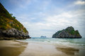 Scenic ocean / beach in South East Asia, Vietnam, Cat Ba - Ha long Bay Royalty Free Stock Photo