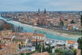 Scenic mediterranean city at river panoramic view Royalty Free Stock Photo
