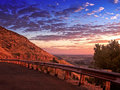 Scenic Overlook Sunrise Stock Image