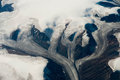 Scenic panorama glaciers above greenland Royalty Free Stock Photos